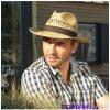 f5949a426 Karpet pánsky klobúk slamený s krempou nahor a stuhou veľ. 58