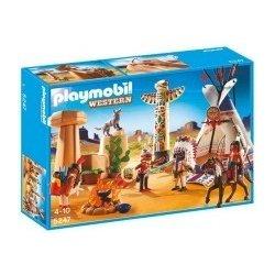 accb0a011 Playmobil set 5247 Indiánsky tábor s tipi + Playmobil 4012 SuperSet Indiáni