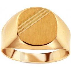 0b704776a iZlato Design Zlatý pánsky pečatný prsteň s matovaním IZ15530 ...
