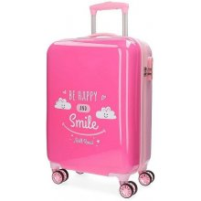 1c6093bcae620 JOUMMABAGS ABS Cestovný kufor Roll Road Happy pink ABS plast, 33l