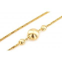 53506d655 Zlatý dámsky náhrdelník s guličkami žlté zlato IZ3905 alternatívy ...