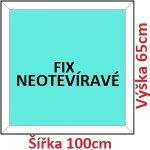 Soft Plastové okno 100x65 cm, FIX neotváravé