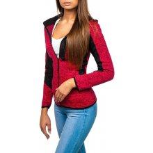 Ružová dámska mikina s kapucňou Bolf 8778 183bf2d2b09