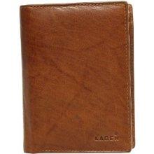 Lagen Pánská hnědooranžová kožená peňaženka Cognac LM-8314-2