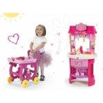 Smoby Set kuchynka Disney Princezné s hodinami a čajová súprava na vozíku