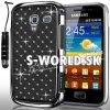 Zadný kryt Samsung Galaxy Ace 2 - Chrome Diamant čierna
