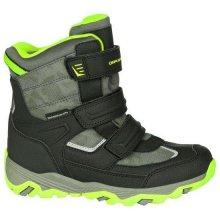 ALPINE PRO Chlapčenské zimné topánky Acacio čierno-žlté d7eb07dbea1