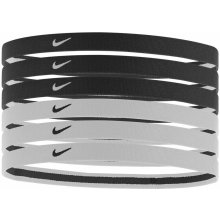 Nike Swoosh Sport Headbands 6pk Black/White