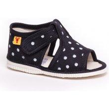 RAK 10014 Detské papuče Čierna bodka