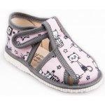 RAK 10015 Detské papuče Ružové mačky limitovaná kolekcia