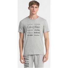 Calvin Klein Pánske tričko S/S Crew Neck NM1438E-080 Grey Heather