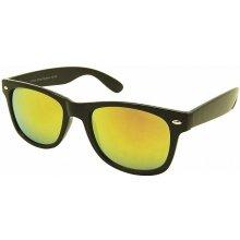Ray Flector W2108/Black Frame Mirror Lens Classic Wayfarer Yellow