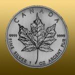 09d24d3ea Maple 1 oz Leaf Investičná Strieborná minca
