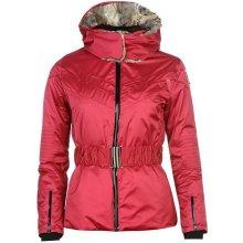 Colmar Golden Pink s kapucňou z pravej kožušiny Ružová Bunda