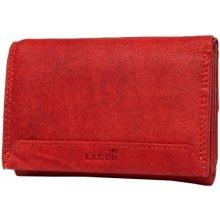 Lagen Dámská červená kožená peňaženka Red LG-10/W-3