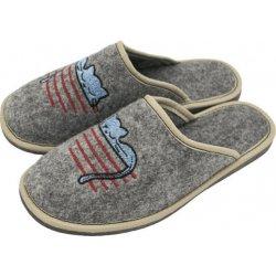 27860e7ae2ae Vlnka dámské luxusní filcové papuče mačka od 5