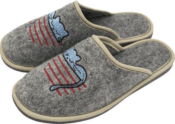 c4c71c54b4fe Vlnka dámské luxusní filcové papuče mačka
