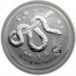 Lunární série II. stříbrná mince 1 AUD Year of the Snake Rok hada 1 Oz 2013 Privy Mark