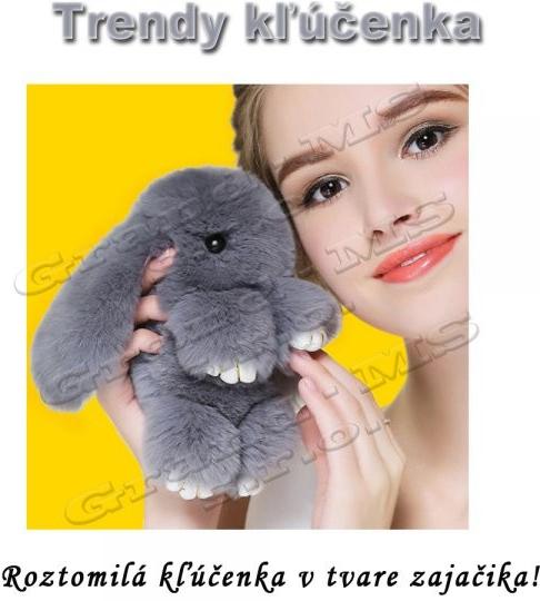 Prívesok na kľúče Prívesok na kľúče Trendy Zajac Pom Pom šedý ... cdff12a1e6d