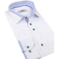 ada5fb628c92 Beva Klasik Biela obleková košeľa modrý kontrast 2T133 od 30
