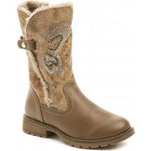 Peddy PV-533-38-08 hnědé dívčí zimní kozačky dětská obuv 33a108a9206