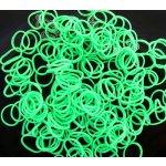 Loom Bands gumičky s háčikom 270 ks - zelené neónové