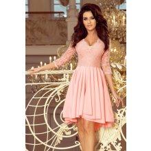 9ac039db1ccc Dámske šaty Numoco Nicolle 210-7 s čipkou ružové Ružová
