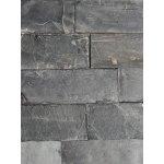 Obkladový kameň Bridlica Indian Black 30x10