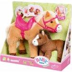 Zapf Creation Interaktívny kôň Sunny so žriebätkom Baby Born