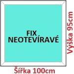 Soft Plastové okno 100x95 cm, FIX neotváravé