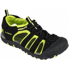 LOAP Detské sandále Dope čierno-zelené