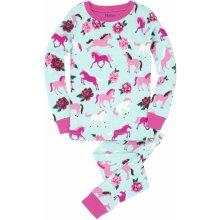 Hatley Dievčenské pyžamo s koníkmi farebné