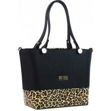 Grosso elegantná dámska leopardia kabelka S746 Čierna 8a544fb4a50