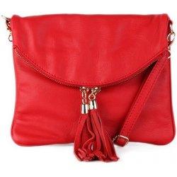 71747e890f talianska malé kožené kabelky listové crossbody červená Korzika ...