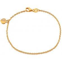 12db74733 iZlato Design zlatý detský náramok so zirkónmi a príveskom Srdiečko IZ16925