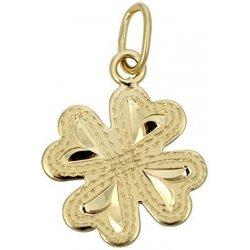 8754df0e3 Brilio Zlatý prívesok štvorlístok 242 001 00133 - 0,60 g žlté zlato 585/