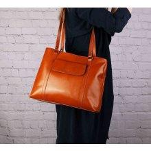 Vera Pelle kožená kabelka biznisová pracovná hnedá Madona 1d35ed5233c