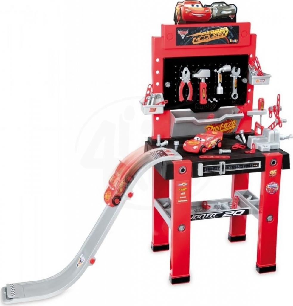 b9f543c5252c4 Smoby detská pracovná dielňa Autá 3 s autíčkom rampou a 94 doplnkov