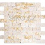 Premium Mosaic Stone Kamenná mozaika krémové tehly 3x6 cm - STMOS3060CR