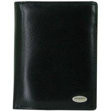 Friedrich Lederwaren Pánská černá kožená peňaženka 16012-2