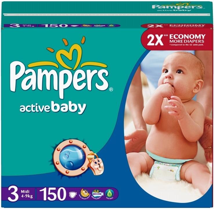 Pampers Active baby 3 midi plienky 150ks - 4