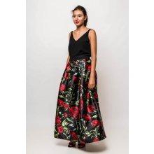 aac00d06ea73 Dlhá elegantná sukňa s kvetinovým vzorom