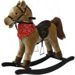 Teddies kůň houpací hnědý plyš na baterie se zvukem a pohybem