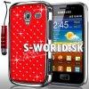 Zadný kryt Samsung Galaxy Ace 2 - Chrome Diamant červená