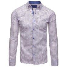 2250cfaed DS Pánska košeľa so vzorom biela 1882_3 Biela