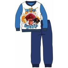 Disney by Arnetta chlapčenské pyžamo Angry Birds modré