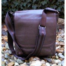 pánska taška hnedá štepovaná crossbody