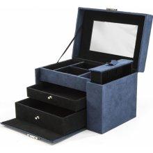 Ambassador šperkovnica Velvet 9689 modrá