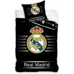 Carbotex Obliečky Real Madrid čierná bavlna 140x200 70x80