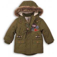 Minoti GREAT 2 Kabát chlapčenský zimní Parka khaki